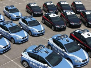 Le nuove Seat Leon incriminate in dotazione a Polizia e Carabinieri.